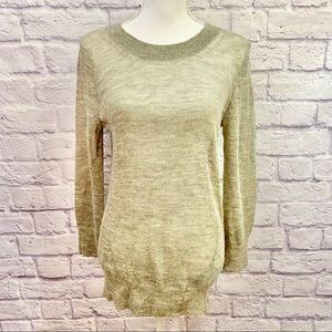J. Crew Gold Shimmer Holiday Sweater